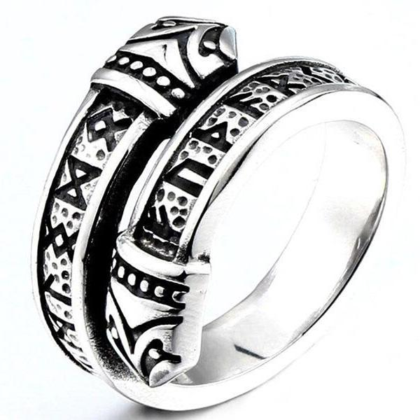Dragon Ring Viking Style Stainless Steel