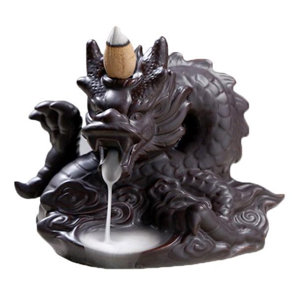 oriental dragon incense burner