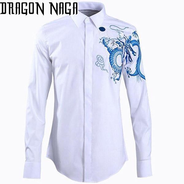 Chemise Dragon Bleu