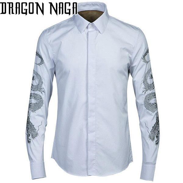 Chemise Dragon Blanc