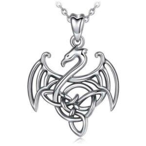 Dragon Necklace Celtic Silver