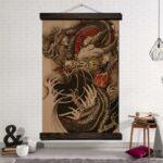 Oriental Dragon Painting Wall Art