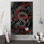 Chinese Dragon Painting Wall Art