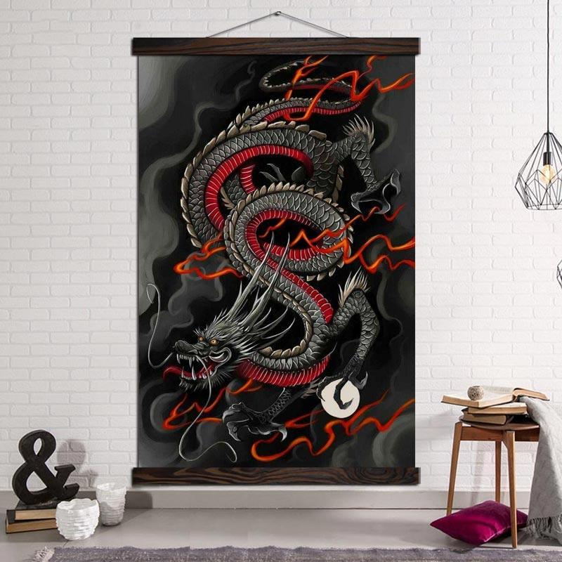 Tableau Dragon Chinois Déroulant