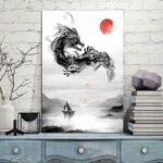 Painting Japanese Dragon Wall Art