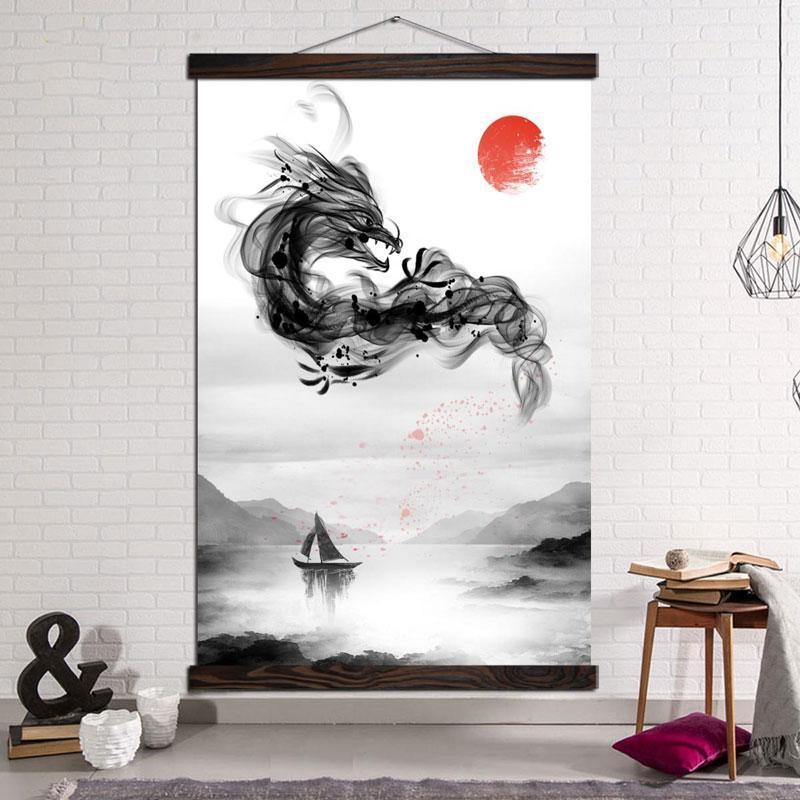 Tableau Dragon Japonais Déroulant