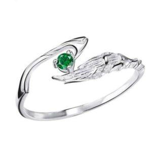 Dragon Ring Bird Wing Silver Sterling