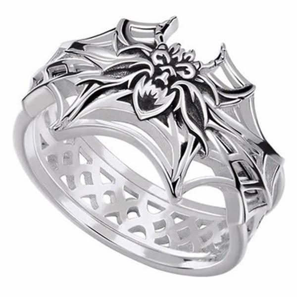 Dragon Ring Arachnid Sterling Silver