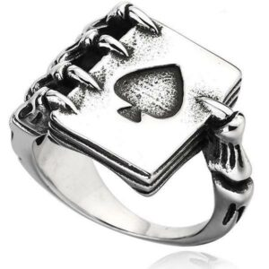 Dragon Ring Ace Of Spades Steel