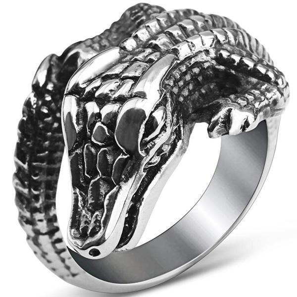 Dragon Ring Crocodile Stainless Steel