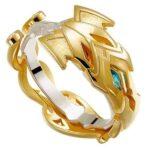 Dragon Ring Golden Armor Zirconium