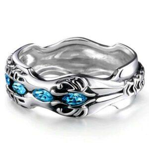 Dragon Ring Azure Sky Silver