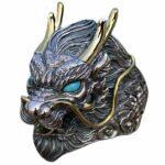 Dragon Ring Vintage Biker Sterling Silver
