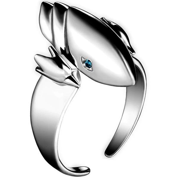 Dragon Ring White with Blue Eyes