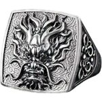Dragon Ring Vintage Silver Sterling 925