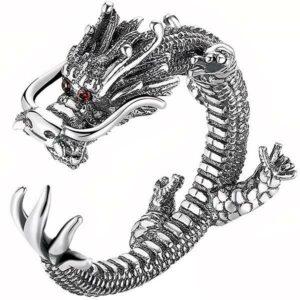 Dragon Ring Conqueror Silver Sterling