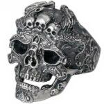 Dragon Ring Skull Silver