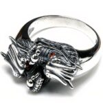 Dragon Ring Dual Silver Sterling 925