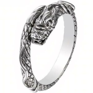 Dragon Ring Eternal Silver Sterling