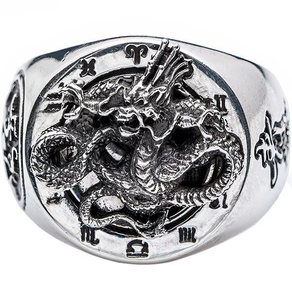 Dragon Ring Sterling Silver Feng Shui