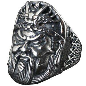 Dragon Ring Guan Yu Sterling Silver