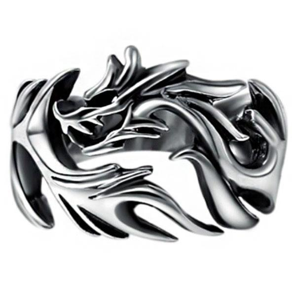 Dragon Ring Hollow Silver Sterling 925