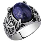 Dragon Ring Lapis Lazuli Sterling Silver 925