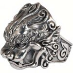Dragon Ring Lion Sterling Silver 925
