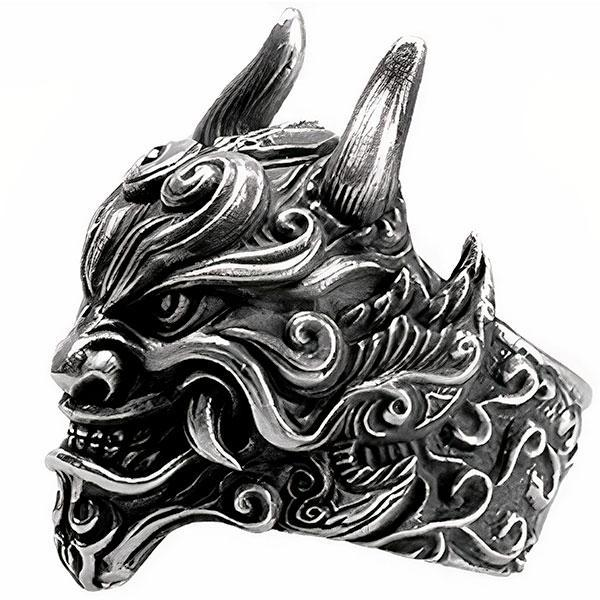 Dragon Ring Mythical Beast 999 Silver