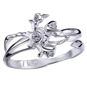 Dragon Ring White Stone Sterling Silver
