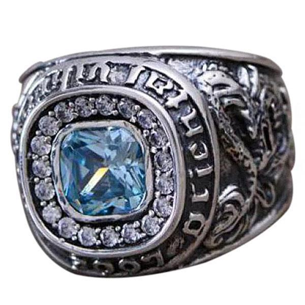 Dragon Ring Precious Stone Sterling Silver