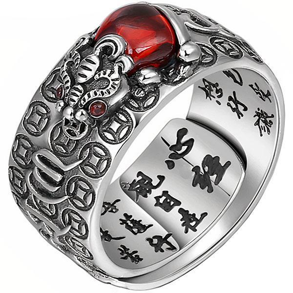 Dragon Ring Pixiu Sterling Silver 925