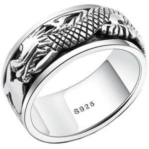 Dragon Ring Rotational 925 Silver
