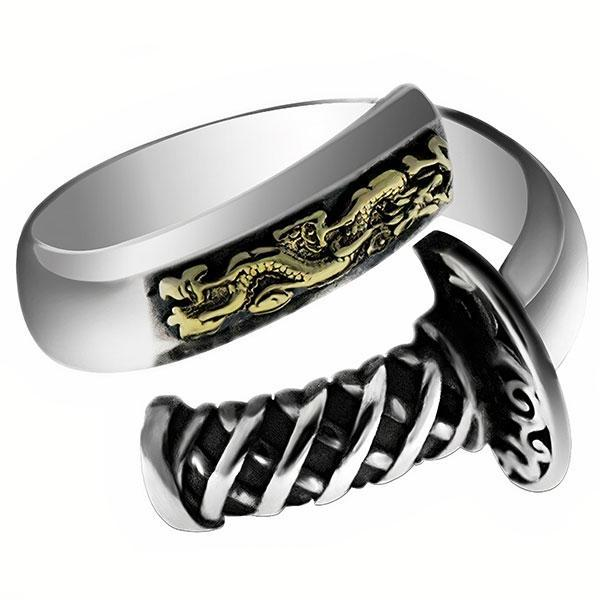 Dragon Ring Silver Samurai Sterling 925