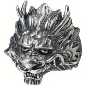 Dragon Ring Sovereign Sterling Silver