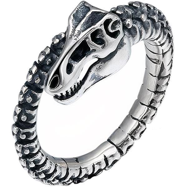 Dragon Ring Sterling Silver Skeleton