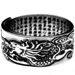 Dragon Ring Tibetan 990 Silver