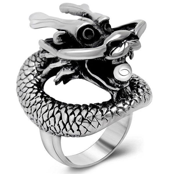 Dragon Ring Stainless Steel Totem