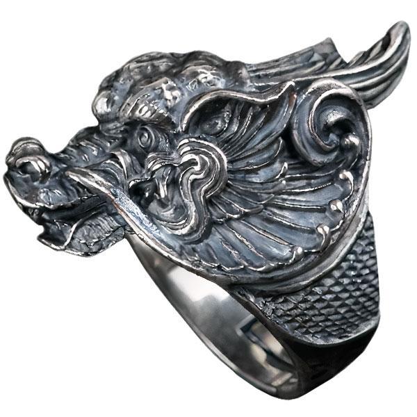 Dragon Ring Three-Dimensional Sterling Silver