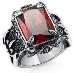 Dragon Ring Glass Gem