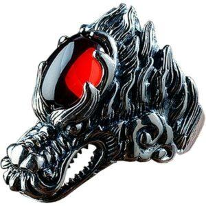 Dragon Ring Zirconium Sivler Sterling