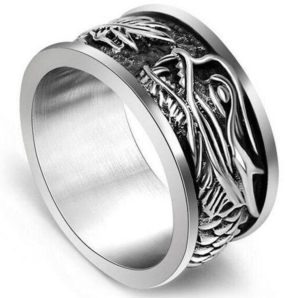 Dragon Ring Stainless Steel Scale 316L
