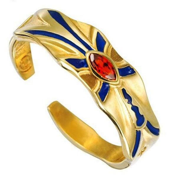 Dragon Ring Egyptian Golden Sterling Silver