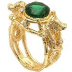 Dragon Ring Green Stone