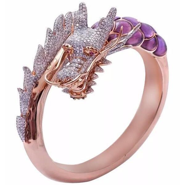 Dragon Ring Pink Luxury