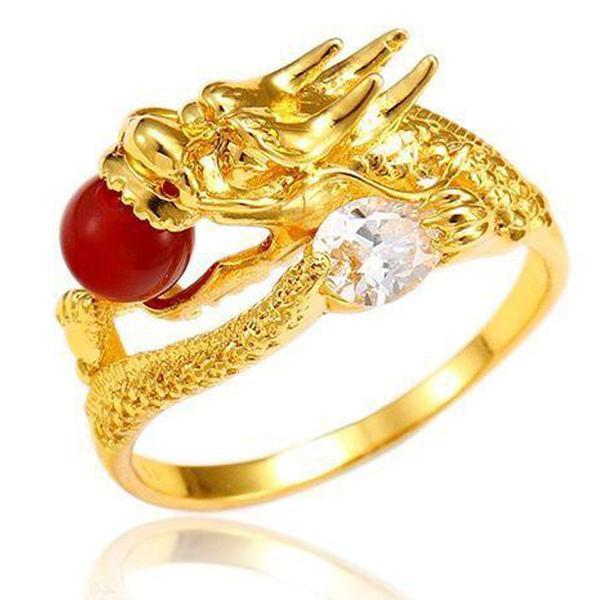 Dragon Ring Golden Fantasy