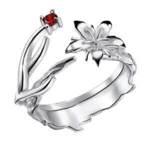 Dragon Ring Divine Flower Zircon Stone