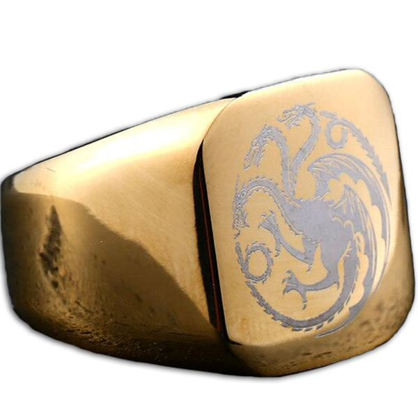 Dragon Ring Game Of Thrones (Steel)