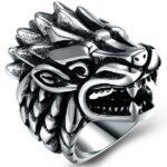 Dragon Ring Hedgehog Stainless Steel
