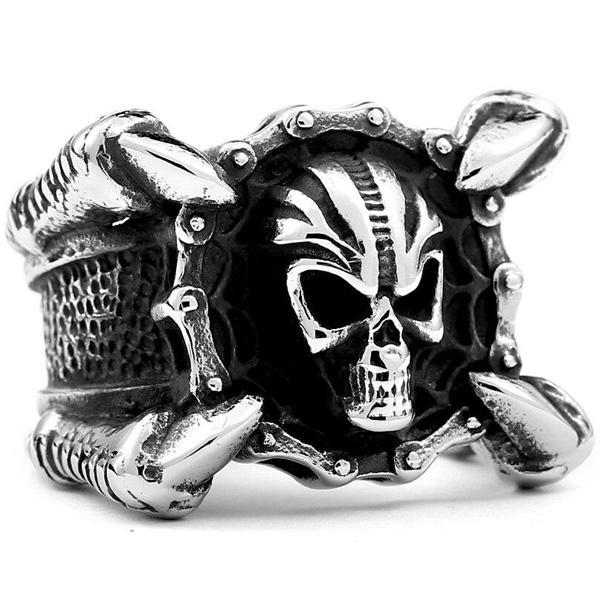 Dragon Ring Mortal Skull Of Steel